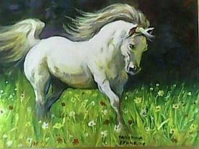 Painting - Horse In The Wind by Wanvisa Klawklean
