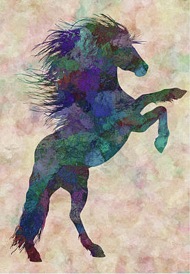 Abstract Horse Painting - Horse by Jack Zulli