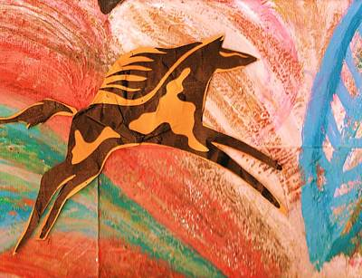 Horse Jumping Over Colors Art Print by Anne-Elizabeth Whiteway