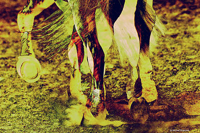 Photograph - Horse Legs by Michael Mogensen
