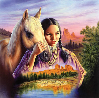Horse Maiden Art Print by Andrew Farley
