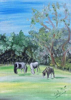 Horse Meadow Original by Isabella F Abbie Shores FRSA