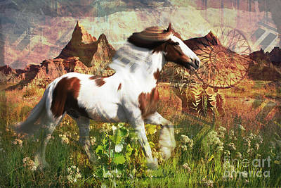 Digital Art - Horse Medicine 2015 by Kathryn Strick