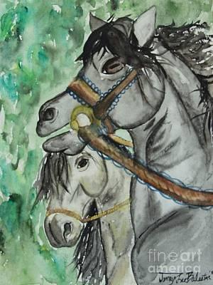 Horse Meets Carousel Pony Art Print by Jamey Balester