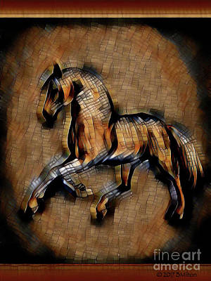 Mixed Media - Horse Mosaic by Barbara Milton