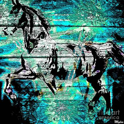 Painting - Horse Night Walker by Saundra Myles
