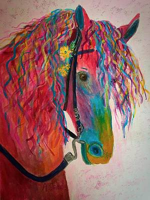 Painting - Horse Of A Different Color by Anne Sands