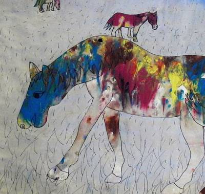 Art Print featuring the painting Horse Of A Different Color by Thomasina Durkay