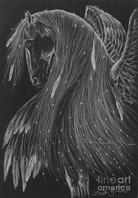 Drawing - Horse Of A Thousand Stars by Louise Green
