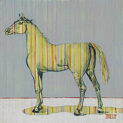 Domesticated Animal Painting - Horse Of Many Colors No. 2 by Christine Belt