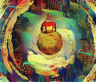 Digital Art - Horse On Sphere by Bruce Rolff
