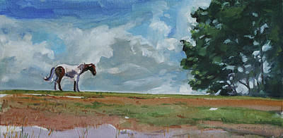 Painting - Horse On The Horizon by Christine Montague