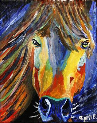 Painting - Horse One by April Harker