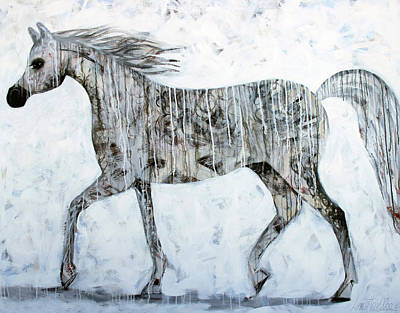 Painting - Horse Paint by Lance Headlee