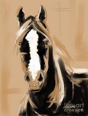 Painting - Horse Paint White by Go Van Kampen
