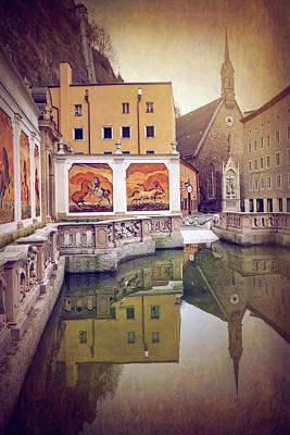 Wall Mural Photograph - Horse Pond  Karajan Square  Salzburg Austria  by Carol Japp