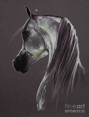 Suckling Painting - Horse Portrait 0321a by Gull G