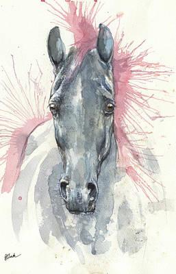 Painting - Horse Portrait 2017 07 26 by Angel Ciesniarska