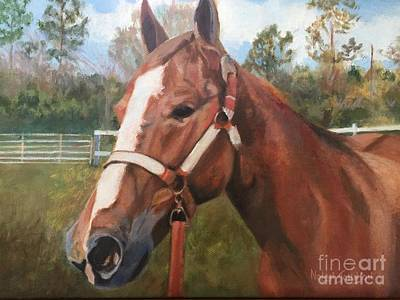 Red Dun Horse Painting - Red Dun Horse - Reds Done Dancin By Marilyn Nolan-johnson by Marilyn Nolan-Johnson