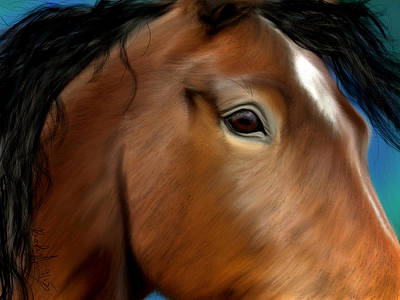 Painting - Horse Portrait Close Up by Becky Herrera