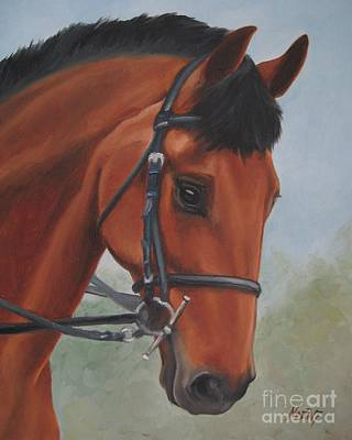 Print featuring the painting Horse Portrait by Jindra Noewi