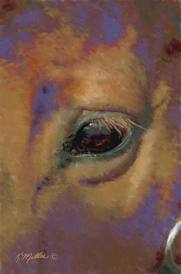 Pastel - Horse Portrait by Kathie Miller
