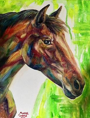 Painting - Horse Portrait by Manuel Cadag