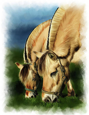 Horse Portrait Print by Michael Greenaway