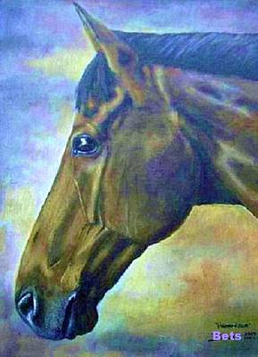 horse portrait PRINCETON psychedelic Art Print