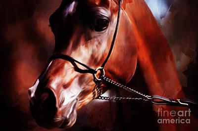 Horse Pose 4521 Art Print by Gull G