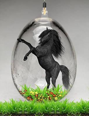 Mixed Media - Horse Power Art by Marvin Blaine