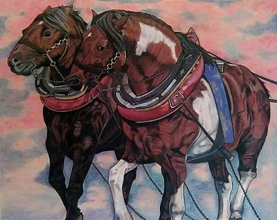 Painting - Horse Power by Melita Safran