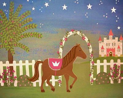 Princess Painting - Horse Princess by Samantha Shirley