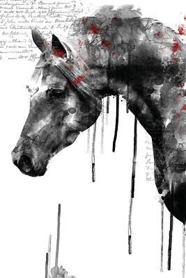 Digital Art - Horse Profile by Mihaela Pater