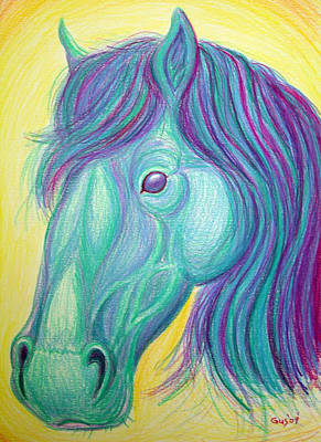 Horse Profile Print by Nick Gustafson