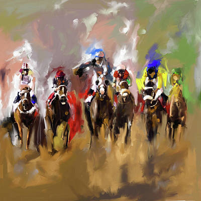 Painting - Horse Race I by Mawra Tahreem