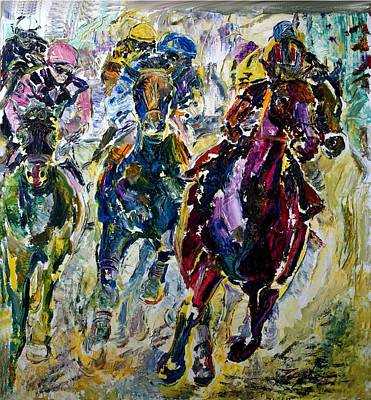 Painting - Horse Race by Lord Toph