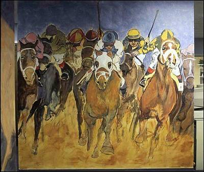 Painting - Horse Race Mural by Michelle Spiziri