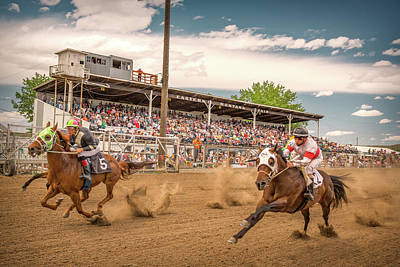 Quarter Horses Photograph - Horse Race by Todd Klassy