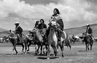 Photograph - Horse Racing At Litang - Kham Region Of Tibet by Craig Lovell