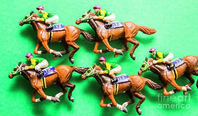 Small Statue Photograph - Horse Racing Carnival by Jorgo Photography - Wall Art Gallery