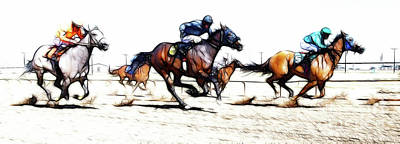 Photograph - Horse Racing Dreams 1 by Bob Christopher