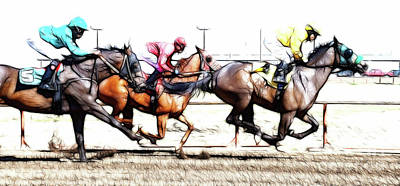Photograph - Horse Racing Dreams 2 by Bob Christopher