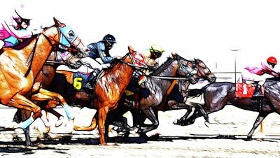 Photograph - Horse Racing Dreams 3 by Bob Christopher
