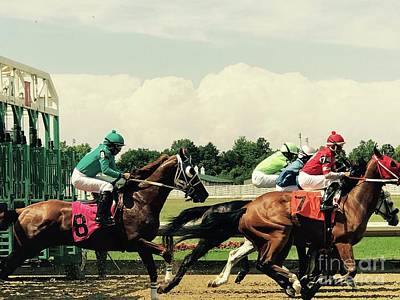 Photograph - Horse Racing by Michael Krek