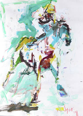 Horse Racing Painting Art Print