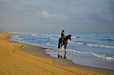 Photograph - Beach Horse Rider by Marek Stepan