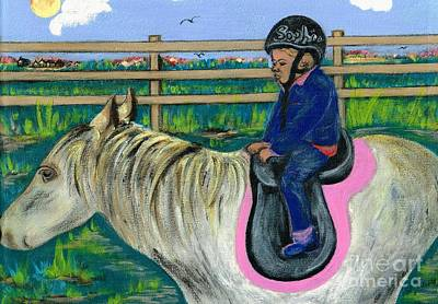 Painting - Horse Riding Girl  by Teresa White