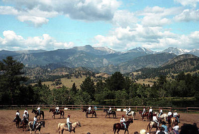 Photograph - Horse Riding In Colorado by Emanuel Tanjala