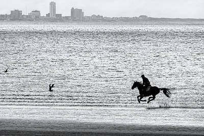 Photograph - Horse Riding The Waves by Nadia Sanowar
